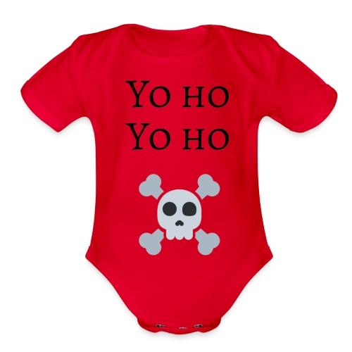 Yo Ho Yo Ho Pirate Tee - Organic Short Sleeve Baby Bodysuit