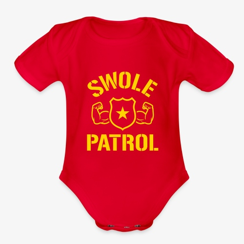 Swole Patrol - Organic Short Sleeve Baby Bodysuit