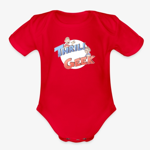 ThrillGeek Podcast Logo Shirt - Organic Short Sleeve Baby Bodysuit