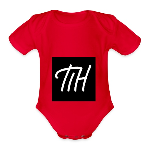 Logo for merch - Organic Short Sleeve Baby Bodysuit