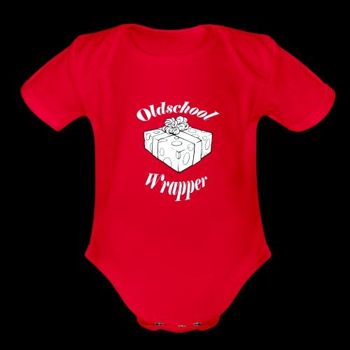 Oldschool Wrapper - Organic Short Sleeve Baby Bodysuit