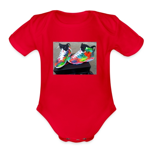 air jordan 6 galaxy customs i really like them - Organic Short Sleeve Baby Bodysuit