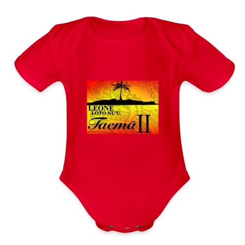 Leone Taemā 2 - Organic Short Sleeve Baby Bodysuit