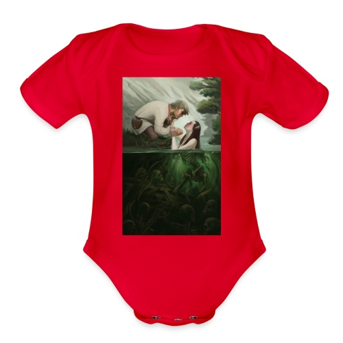 Dont fall in the trap - Organic Short Sleeve Baby Bodysuit