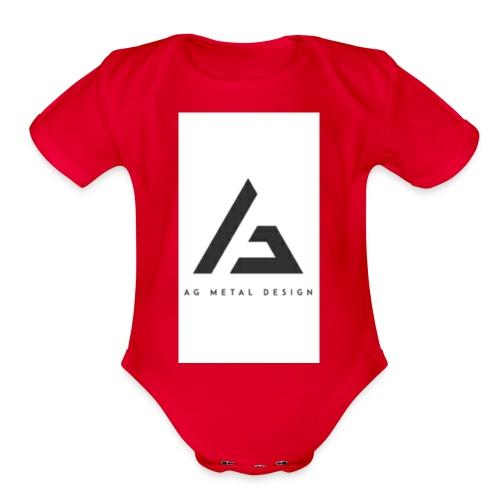 AQFAGamer logo - Organic Short Sleeve Baby Bodysuit