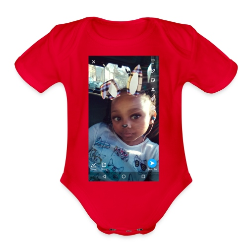 For my group at school that hangs out - Organic Short Sleeve Baby Bodysuit
