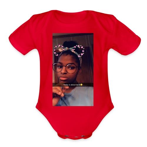 74EF183C CC74 4EAF A7AF D3594321E24F - Organic Short Sleeve Baby Bodysuit