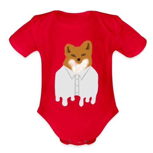 Fancy Fox - Organic Short Sleeve Baby Bodysuit