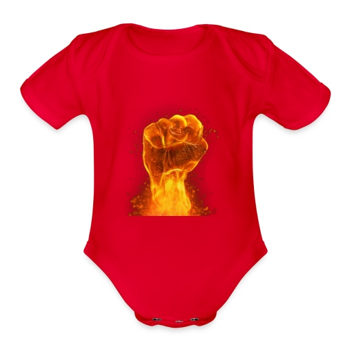 FIST OF FIRE - Organic Short Sleeve Baby Bodysuit