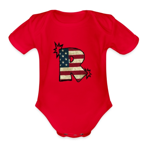 SuppzReviews R Logo - Organic Short Sleeve Baby Bodysuit