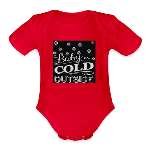 baby its cold outside 200 x 200 - Organic Short Sleeve Baby Bodysuit