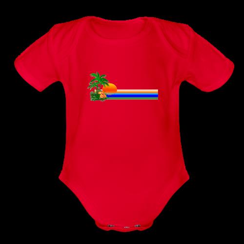 Paradise - Organic Short Sleeve Baby Bodysuit