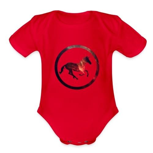 Believe Unicorn Universe 2 - Organic Short Sleeve Baby Bodysuit