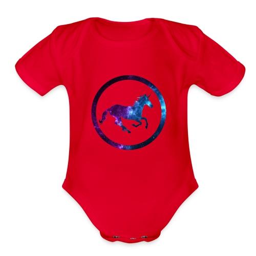Believe Unicorn Universe 3 - Organic Short Sleeve Baby Bodysuit
