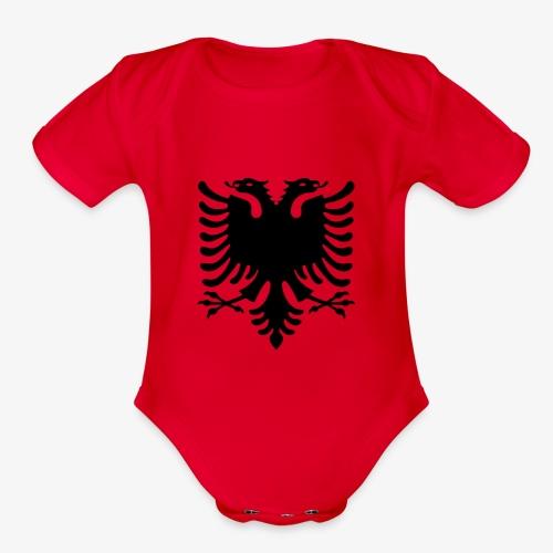 shqiponja - Organic Short Sleeve Baby Bodysuit