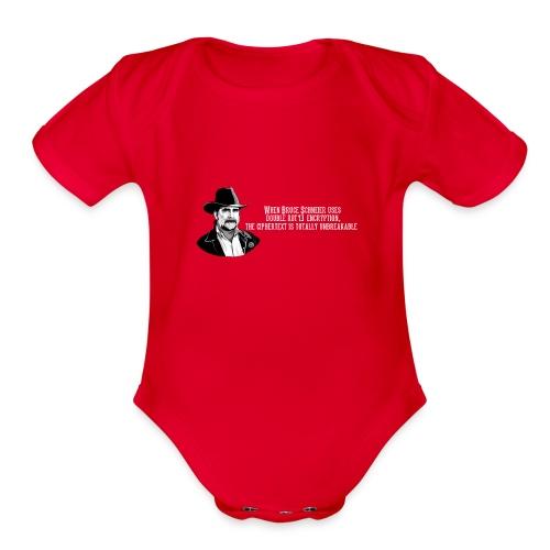 Bruce Schneier Fact #15 - Organic Short Sleeve Baby Bodysuit