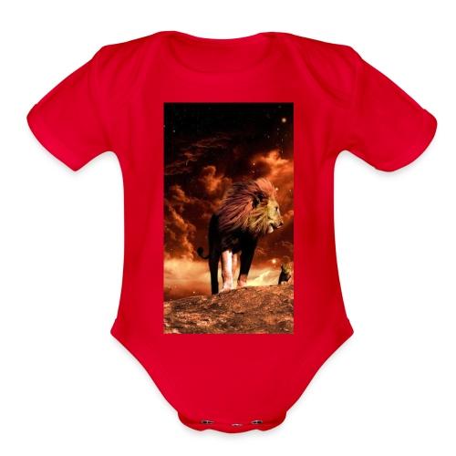 Lion 8777b6f7 3f7c 3f0f b84f 7dd7d3e9c75c - Organic Short Sleeve Baby Bodysuit