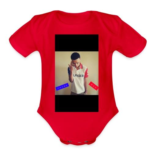 Young buk sauce💯🔥 - Organic Short Sleeve Baby Bodysuit