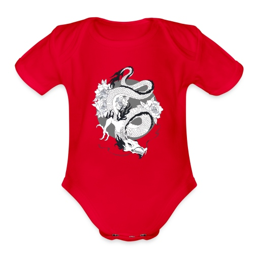 dragoneese - Organic Short Sleeve Baby Bodysuit