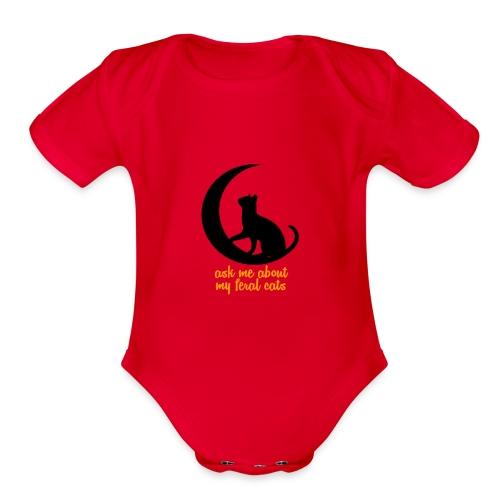 Feral Cats - Organic Short Sleeve Baby Bodysuit