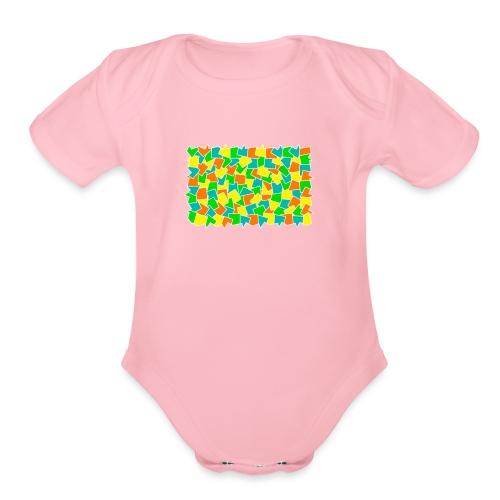 Dynamic movement - Organic Short Sleeve Baby Bodysuit