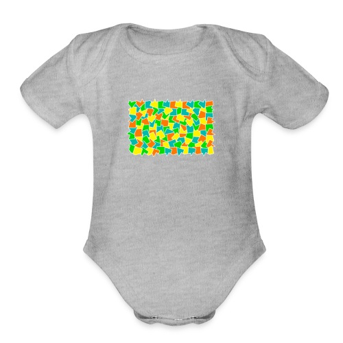 Dynamic movement - Organic Short Sleeve Baby Bodysuit