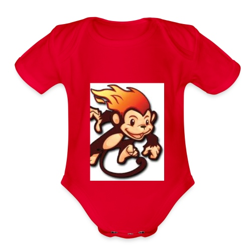 Road runner - Organic Short Sleeve Baby Bodysuit