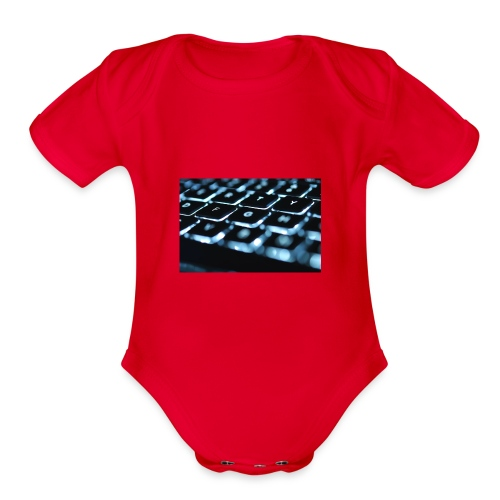 Glowing Keyboard - Organic Short Sleeve Baby Bodysuit
