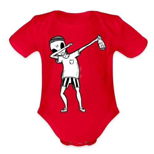 Alien Dab - Organic Short Sleeve Baby Bodysuit