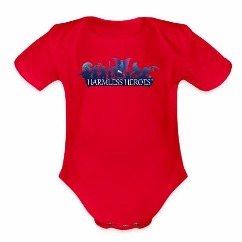 Just the logo - Organic Short Sleeve Baby Bodysuit