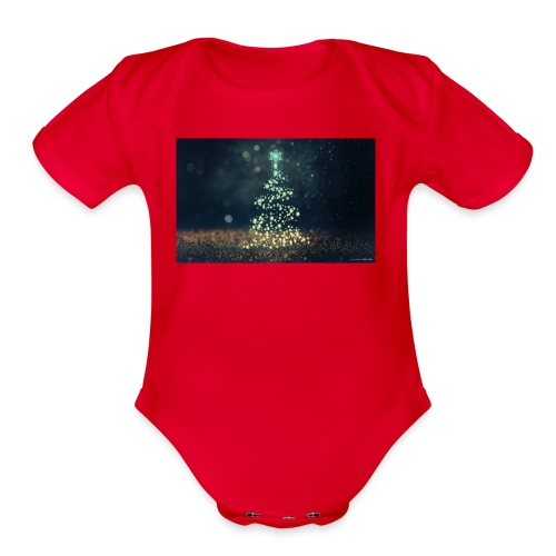 Christmas Tree - Organic Short Sleeve Baby Bodysuit