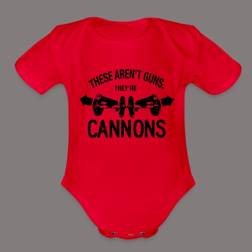 These Aren t Guns - Organic Short Sleeve Baby Bodysuit