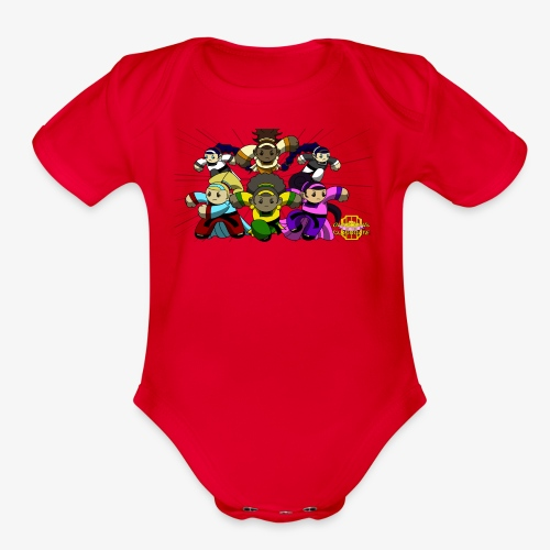 The Guardians of the Cloudgate w/ Logo - Organic Short Sleeve Baby Bodysuit