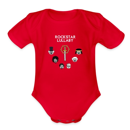 Rockstar Lullaby - Toto Vol. 01 - Organic Short Sleeve Baby Bodysuit