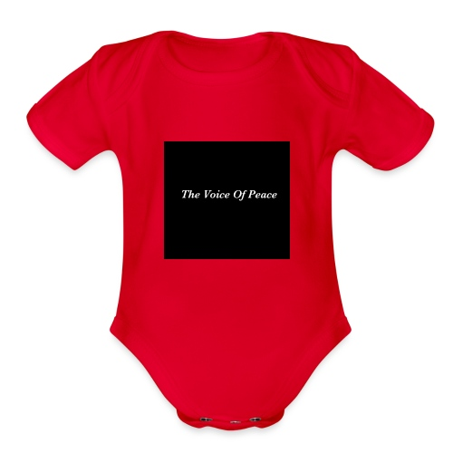 The Voice of Peace - Organic Short Sleeve Baby Bodysuit