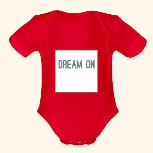 Dream on - Organic Short Sleeve Baby Bodysuit