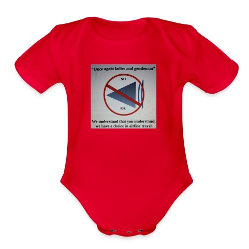 Travel Shirt - Organic Short Sleeve Baby Bodysuit