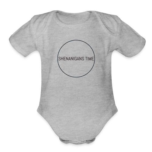 LOGO ONE - Organic Short Sleeve Baby Bodysuit