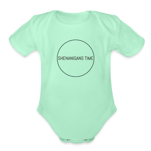LOGO ONE - Organic Short Sleeve Baby Bodysuit