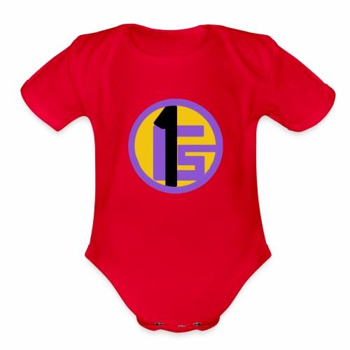 Gabsport1 Logo - Organic Short Sleeve Baby Bodysuit