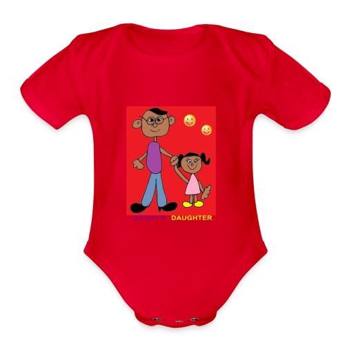 Dad's daughter - Organic Short Sleeve Baby Bodysuit