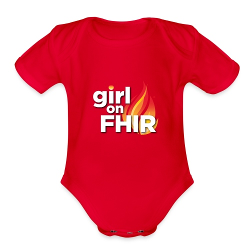 Girl on FHIR - Organic Short Sleeve Baby Bodysuit