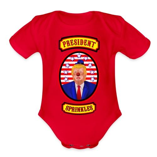 President Sprinkles - Organic Short Sleeve Baby Bodysuit