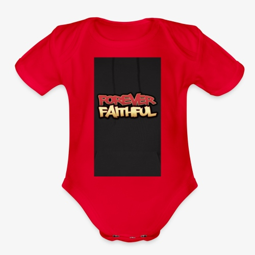 Forever faithful - Organic Short Sleeve Baby Bodysuit