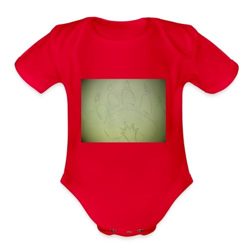 PROTECTOR - Organic Short Sleeve Baby Bodysuit
