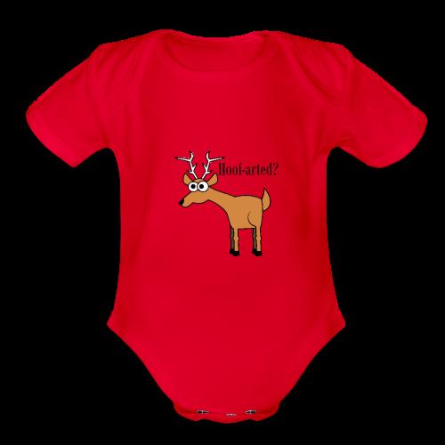 Hoof-arted? - Organic Short Sleeve Baby Bodysuit