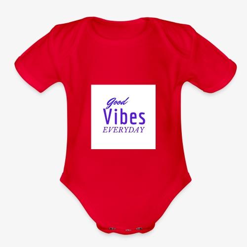 Everyday vibes - Organic Short Sleeve Baby Bodysuit