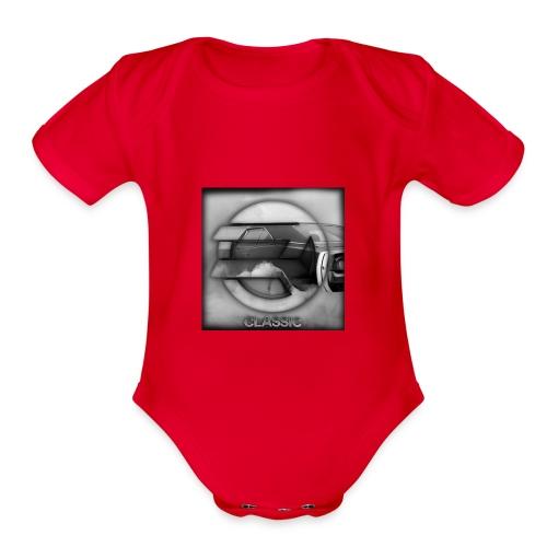 hoodie - Organic Short Sleeve Baby Bodysuit
