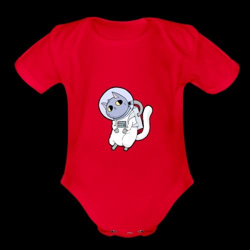 SpaceCat - Organic Short Sleeve Baby Bodysuit