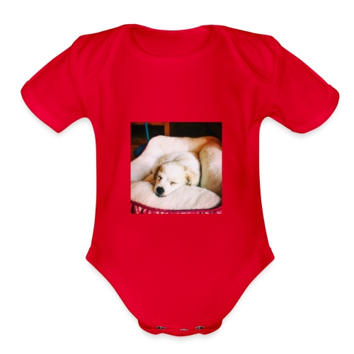Sleeping Puppy Luma - Organic Short Sleeve Baby Bodysuit